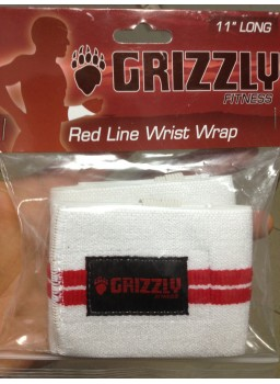 Grizzly Red Line Wrist Wrap