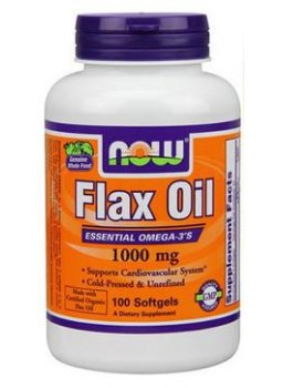 NOW Organic Flax Oil 1000 mg