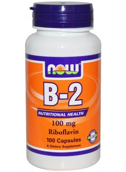 NOW Vitamin B-2 (Riboflavin) 100 mg.