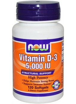 NOW Vitamin D-3 5000 120 гел.капс