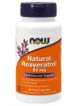NOW Natural Resveratrol 50mg. 60 капс.